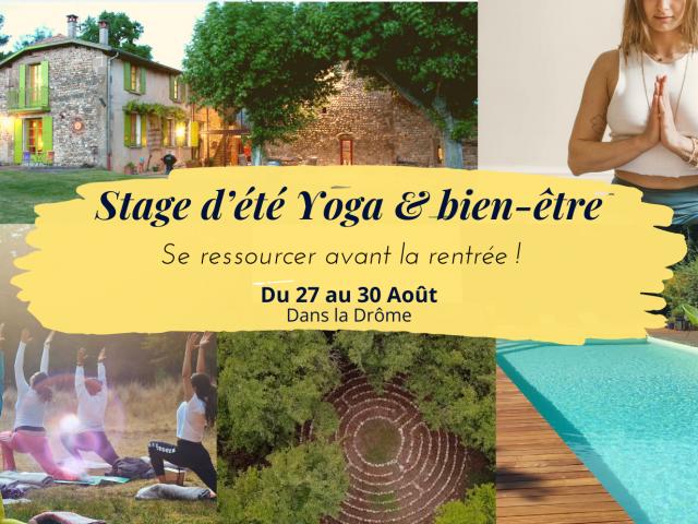 Stage d'été Yoga & Bien-être – 4 jours au bord de la piscine